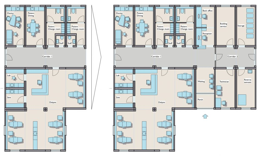 Dialysis Center Ya Abrunee: Layout with Enlargement Step #2