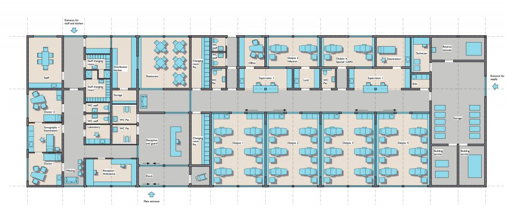 Dialysis Center Duende: Layout